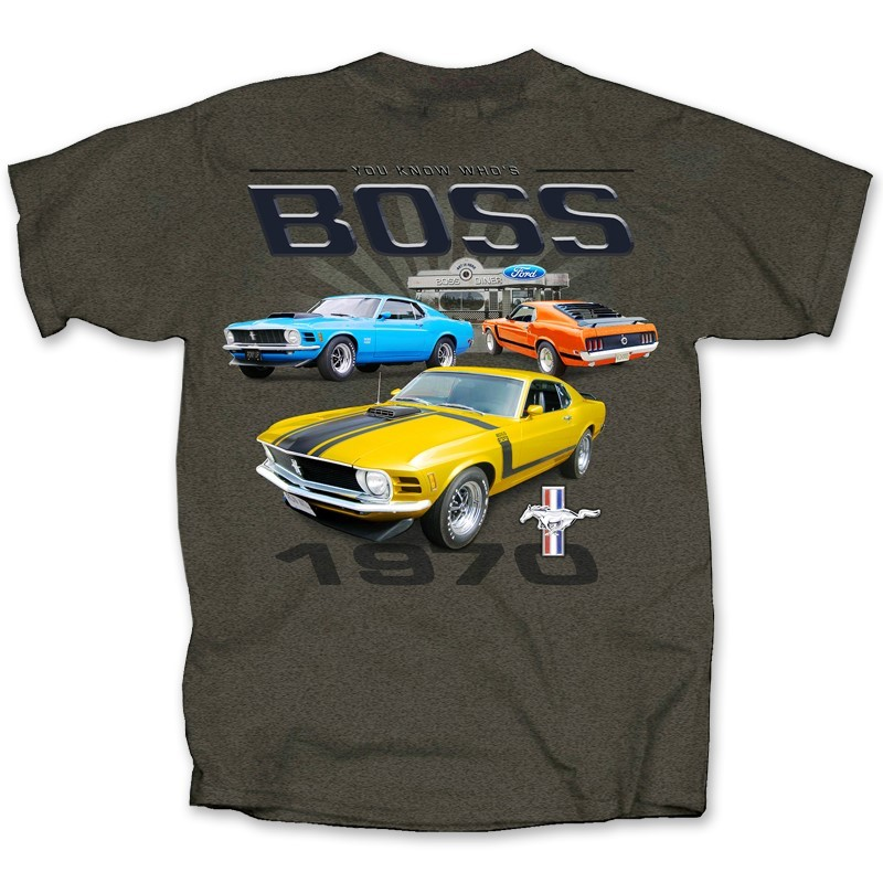 FORD MUSTANG YOU KNOW WHO'S BOSS 1970| Joe Blow Tees