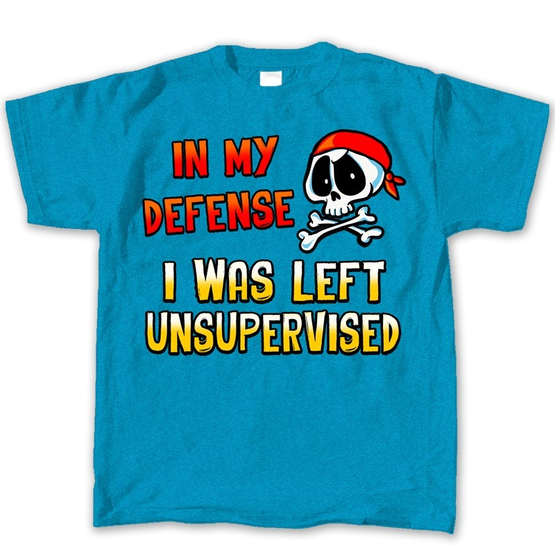 IN MY DEFENSE I WAS LEFT UNSUPERVISED | Joe Blow Tees