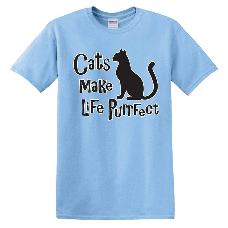 CATS MAKE LIFE PURRFECT - SKY BLUE