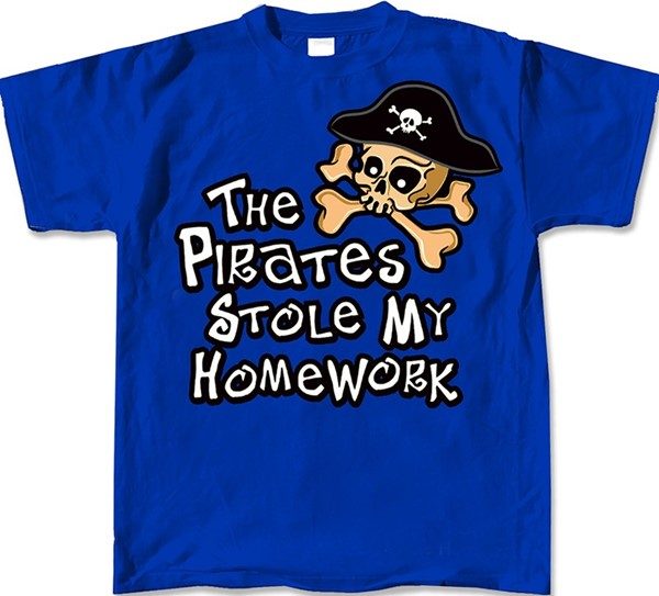 THE PIRATES STOLE MY HOMEWORK