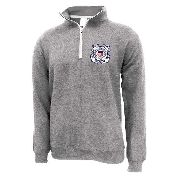 COAST GUARD LOGO 1/4 ZIP