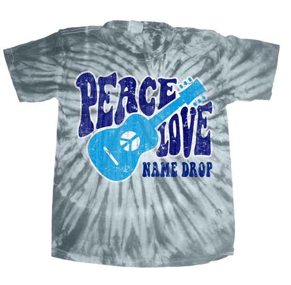 Peace Love Silver Short sleeve Tie Dye