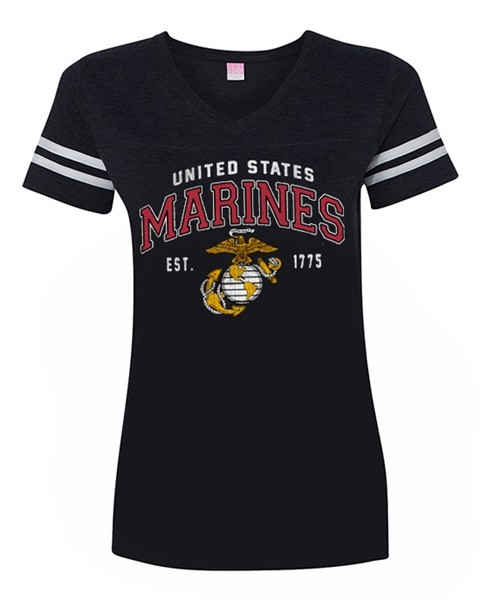Marines - Ladies Vintage Globe Logo