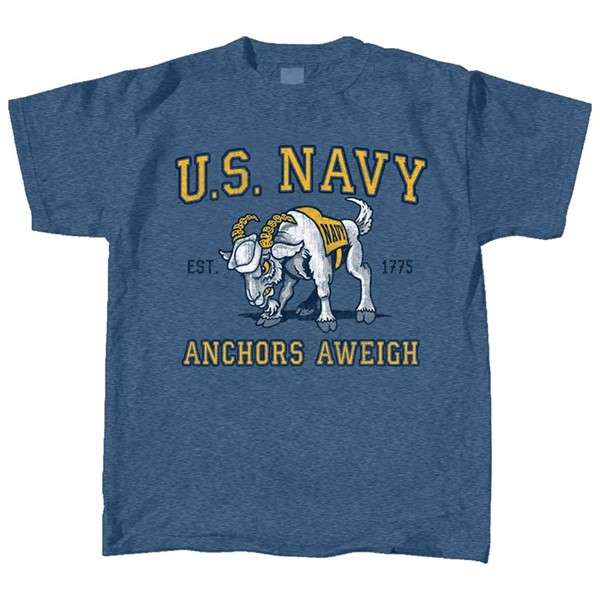 Navy Retro Mascot-Tee- Youth