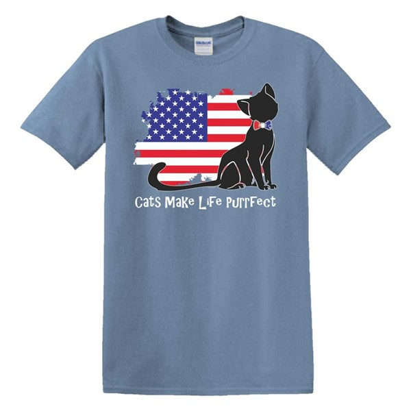USA FLAG CAT PURRFECT
