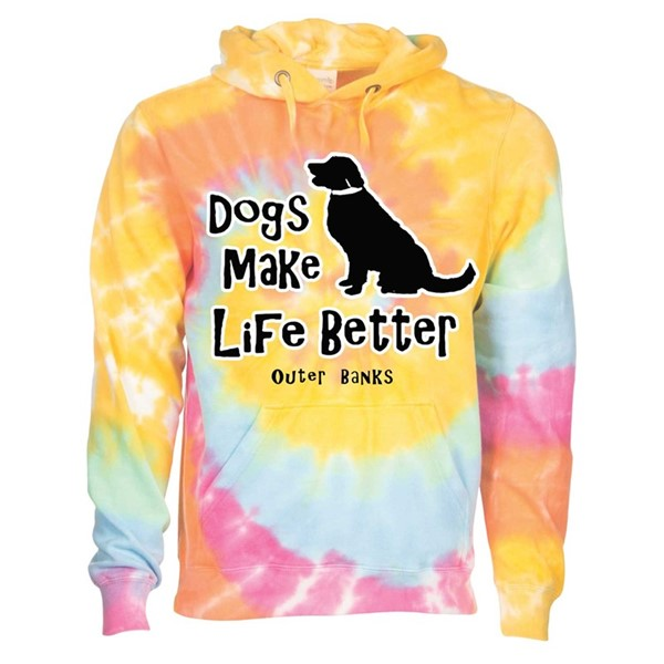 DOGS MAKE LIFE BETTER LS HOODIE