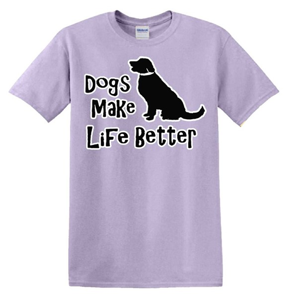 DOGS MAKE LIFE BETTER - ORCHID