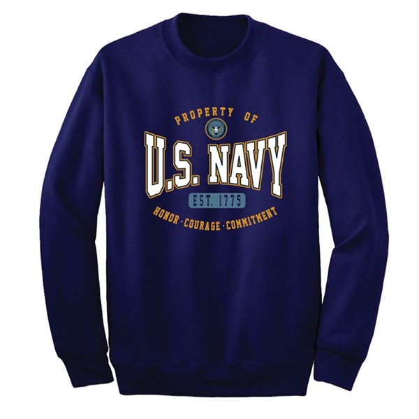 NAVY WARPED BLOCK CREW