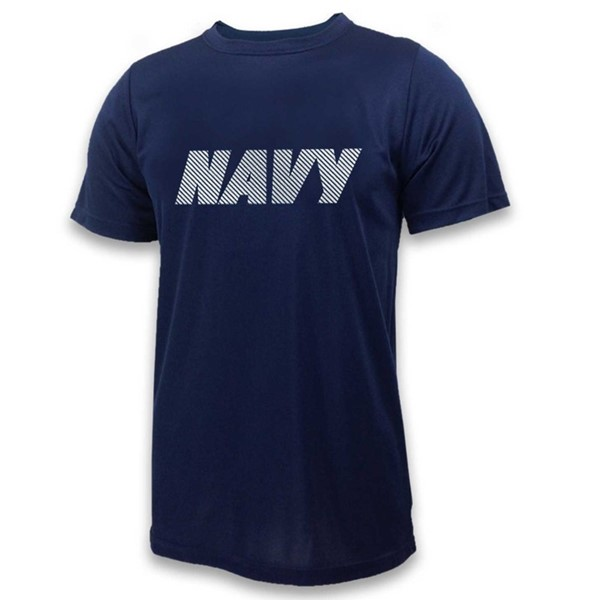 NAVY REFLECTIVE PERFORMANCE TEE